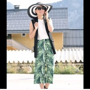 Pants - Banana leaf culottes
